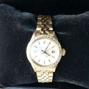Authentic 18k Rolex Datejust Ladies Diamond Bezel